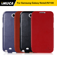 Flip Leather Case Cover For Samsung Galaxy Note 2 N7100 N7102 N7105 Smooth Slim Mobile Phone