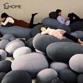 Creative 3D Cobblestone Pillow Stuffed Throw Cushion Bed Sofa Seat Decorative Cushion Throw Pillow Kids Plush Toy