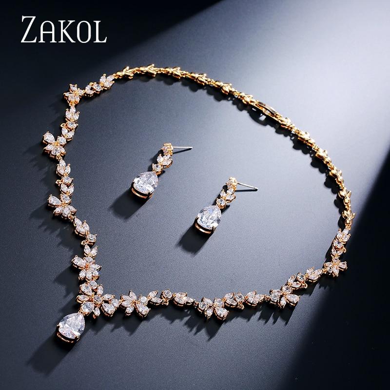 ZAKOL Fashion Cluster Flower Cubic Zirconia Crystal Women Earrings - Bisutería - foto 2