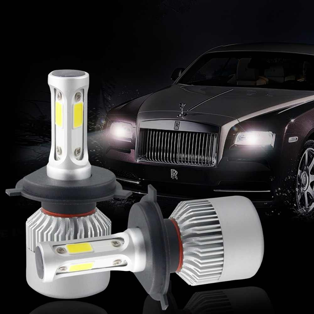 S2 H4 H7 LED Phare Ampoule Car LED Headlight Bulb Auto Phare Antibrouillard 24V 12V H13 H11 H1 9005 9006 H3 9007 9012 72W 8000LM