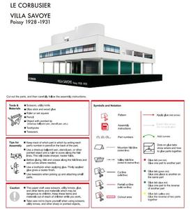 Image 5 - Handwerk Papier Modell Le Corbusier Villa Savoye 3D Architektur Gebäude DIY Bildung Spielzeug Handmade Adult Puzzle Spiel