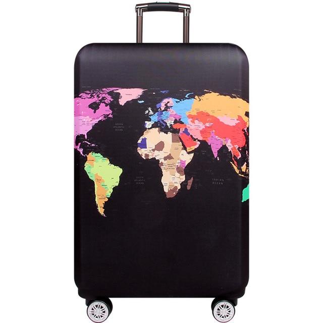 HMUNII карта мира, дизайнерский защитный чехол для багажа, Дорожный Чехол для чемодана, эластичные пылезащитные Чехлы для 18-32 дюймов, аксессуары для путешествий - Цвет: World map