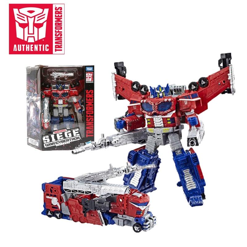 18 cm Transformers guerra de sitio para la trilogía de Cybertron Optimus Prime Shockwave PVC figura de acción generación colección de juguetes modelo-in Figuras de juguete y acción from Juguetes y pasatiempos    1