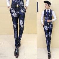 Left ROM Men S Fashion Boutique Print High End Casual Suit Pants Men S Quality And