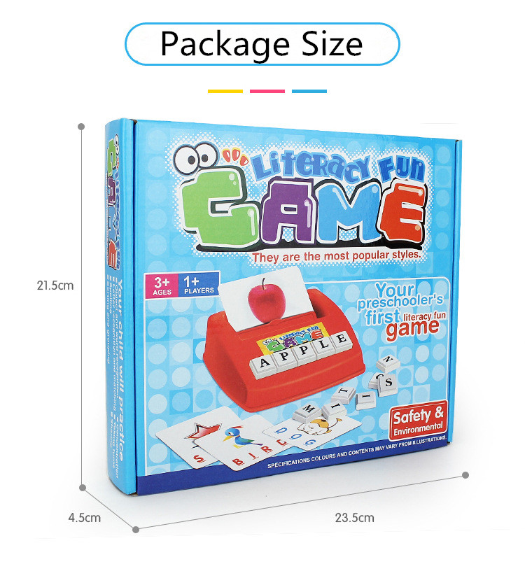Early Learning Educational Toy Kids Language Teaching Juguetes Baby Toys English Spelling Alphabet Letter Game DS19