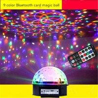 Aimbinet 9 LED ColorBluetooth MP3 Chang Remote Control Disco Dj Stage Lighting LED RGB Crystal Magic