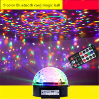 Aimbinet 9 LED ColorBluetooth MP3 Chang Remote Control Disco Dj Stage Lighting LED RGB Crystal Magic