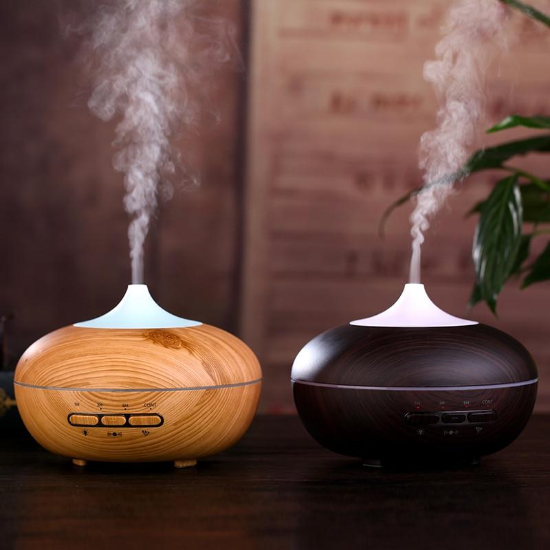 купить GXZ 300ml Smart Wood Grain Humidifier Ultrasonic Aroma Diffuser Mist Maker Mini Household Night Lights Air Purifier дешево