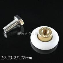 8Pcs Bottom Top Shower Door Rollers Runners Wheels Pulleys 19/23/25/27mm Diameter KF961