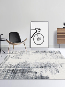 Modern minimalist grey coffee table mat bedroom bedside Nordic ins living room home new Chinese carpet image