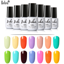 Belen 7ml Macaron Series Pure Nail Gel Colorful 20 Colors Nail Polish Nail Art Nail Gel Polish UV LED Vernis Semi Permanent