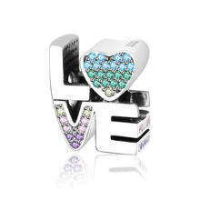 a8f0b020c534 Fit Original Pandora encantos pulsera de plata esterlina 925 DIY joyería  2018 verano multicolor del encanto