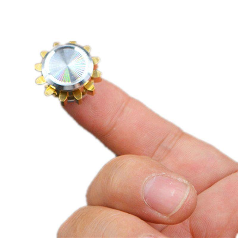 MINI engrenage en alliage de métal Spinner Fidget jouet main Spinner doigt EDC Focus jouets soulagement du Stress cadeau