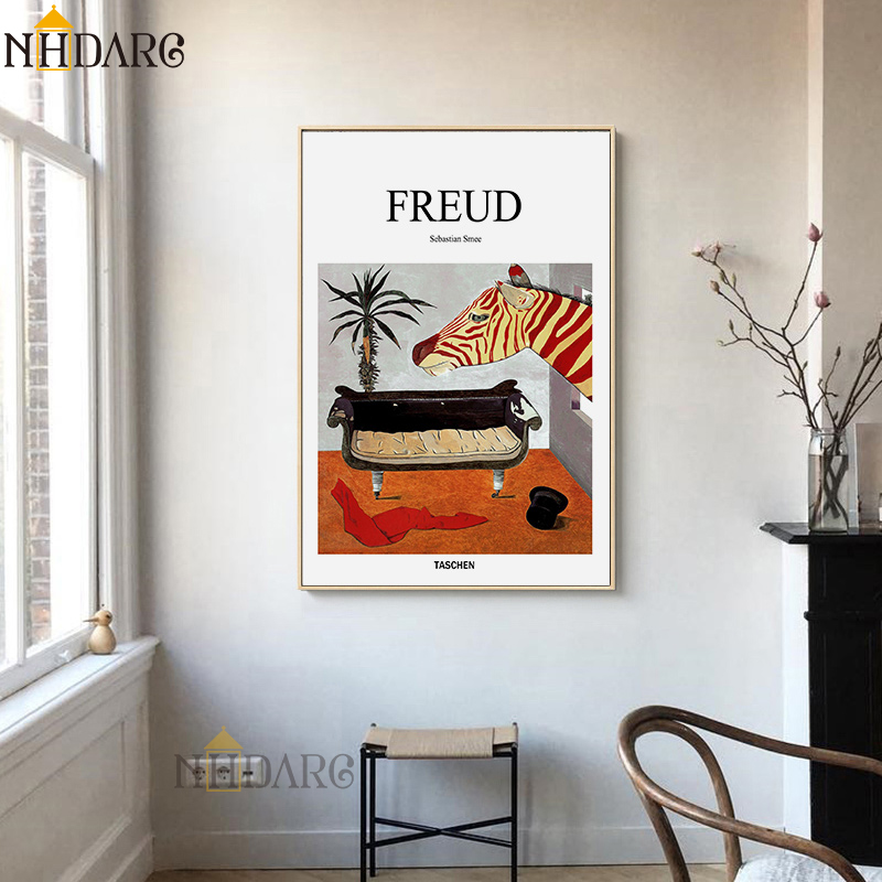 Freud Psychoanalyst Sofa Still Life Posters And Prints Canvas Art Painting Wall Picture For Living Room Hallway Clinic Decor