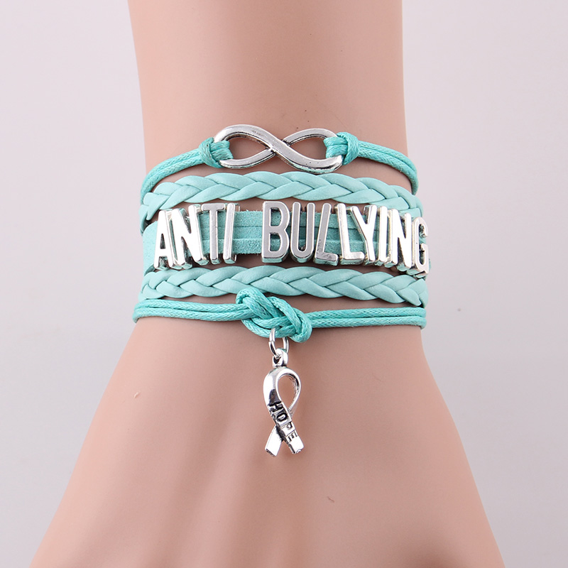 awareness ribbon online sticker bullying magnet cyber bracelet blue charm school bully prevention bumper