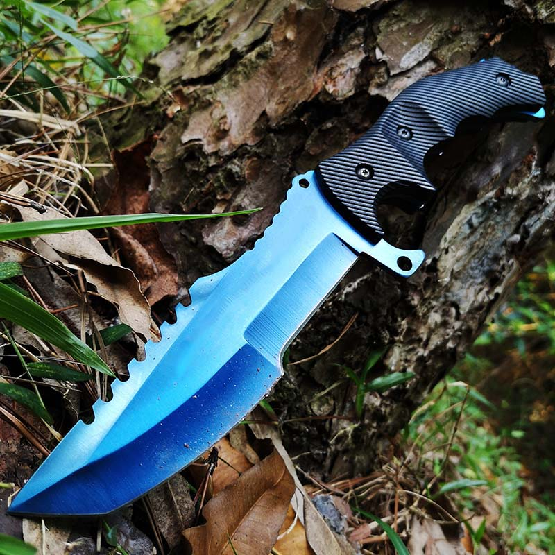 Tactical Fixed Blade Knife, Bowie Hunting Camping Fishing Boating Staright Knife,Survival Knife For Outdoor