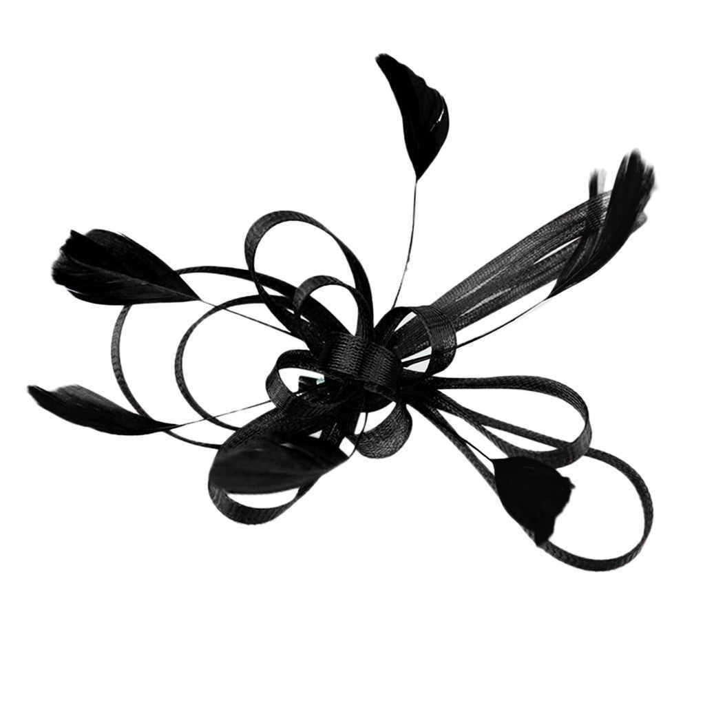 매혹적인 모자 꽃 메쉬 리본 깃털 머리띠 티 파티 모자 헤어 액세서리 축제 사진 2020 새로운