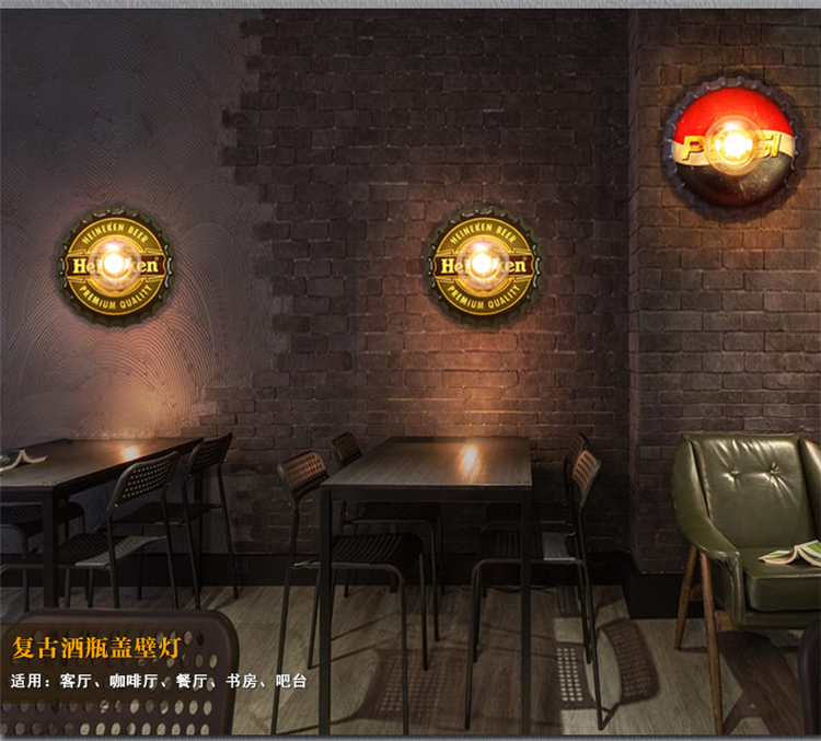 theme personalized bar decoration wrought iron loft industrial wind restaurant bedroom children's room wall lamp leosport prestashop theme