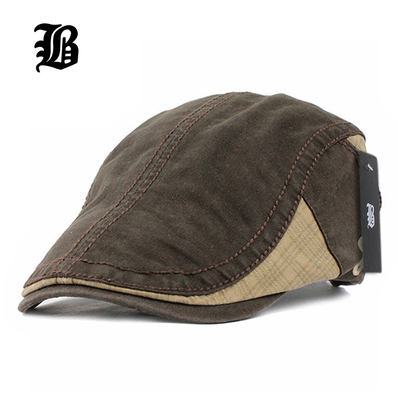 [FLB] Cotton Gorras Planas Male Beret Vintage Boinas Flat Cap for Men and Women casquette Sun Flat Cabbie Newsboy Hat Visors