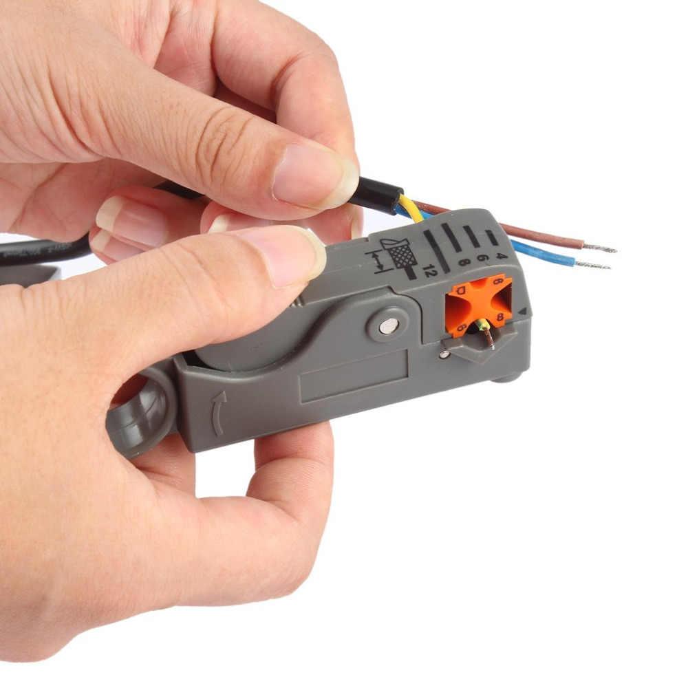 1 Pc Domésticos Ferramenta Multi Cabo Coaxial Stripper/Cortador Ferramenta Rotary Coax Stripper para RG59/6/58 rede Ferramenta Descascador De Fios