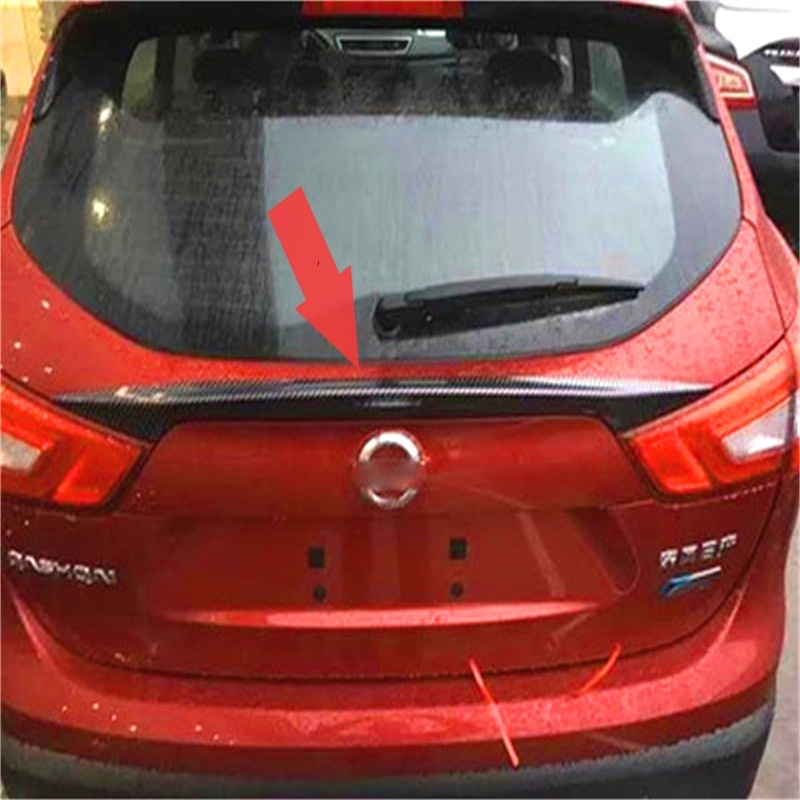 ABAIWAI Car Accessories For Nissan Qashqai Carbon Fiber Stickers Tail Wing Modification Auto Supplies Automotive Exterior 2016 exterior silver roof rack side rails bars luggage carrier a set for nissan qashqai j11 2014 2015 2016 accessories