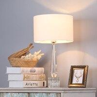 현대 물방울 K9 크리스탈 테이블 램프 Abajurs 크리스탈 거실 홈 장식 램프 테이블 패브릭 침실 Nightstand 램프 Luminaire|LED 테이블 램프|   -