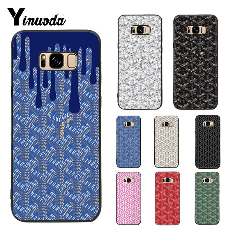Yinuoda Case for Galaxy S9 Goyard Design Colourful Style Design Cell Phone Case For Samsung Galaxy S6 edge S7 edge