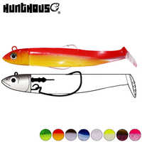 Hunthouse black minnow 25g 40g 60g 90g 120g easy shiner fishing lure soft pike lure lead jig bait bass fishing leurre souple