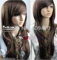 Nice5982Q>> ccharming long Light Brown Fashion Curly Wigs
