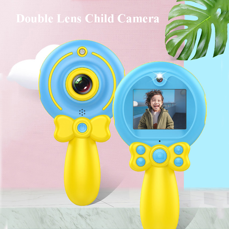 2019 New Digital HD 1080P Kids Camera Dual Lens Multipurpose Cartoon Magic Wand for Children's Camera for Child Birthday Gift(China)