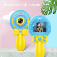 2019 New Digital HD 1080P Kids Camera Dual Lens Multipurpose Cartoon Magic Wand for Children's Camera for Child Birthday Gift