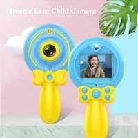 2019 nueva cámara Digital HD 1080P niños doble lente multiusos dibujos animados varita mágica para cámara infantil regalo de Cumpleaños