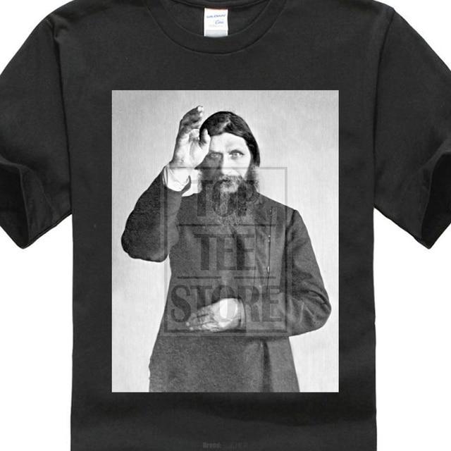 1280303c0 Rasputin O Monge Louco-Camisa 46 Tshirt Olho De Horus Ortodoxa Russa Oculto  2018 Moda