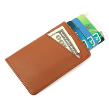 Credit Card Houders Cover RFID Blocking Wallet Slim Cardholder Minimalist Purse Men Id Holder Leather Business Case Porte Carte(China)