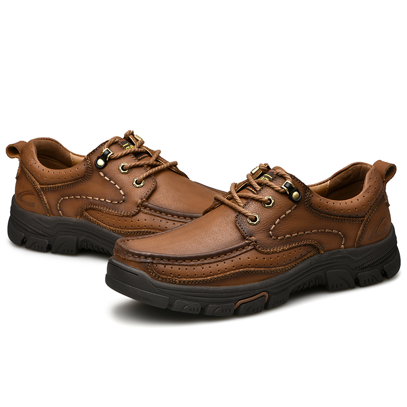 Chaussures Hommes En Vache automne Main Plein Confortable 2018 Air Véritable red Printemps De Cuir La Casual Brown Leathe À Khaki 80wZ8t