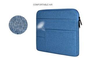 """Image 4 - Funda macbook air 용 가방 케이스 13 11 12 15 15.6 """"노트북 가방 남성용 노트북 컴퓨터 남성용 간단한 사무실 비즈니스 가방 dell hp"""