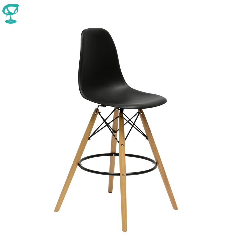 94891 Barneo N-11 Plastic Wood High Kitchen Breakfast Bar Stool Bar Chair Kitchen Furniture Black Free Shipping In Russia