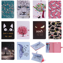 Luxury Horse Print Leather Magnetic Flip Wallet Tablet Case Cover Bag Coque Funda For Samsung Galaxy Tab A 9.7