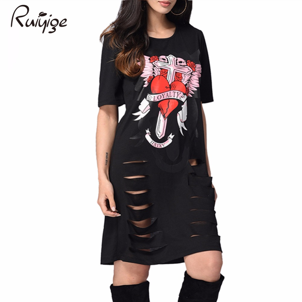 Black dress cartoon - European Style Cartoon Dress Summer Casual Loose O Neck Short Sleeve Print Beach Dresses Plus