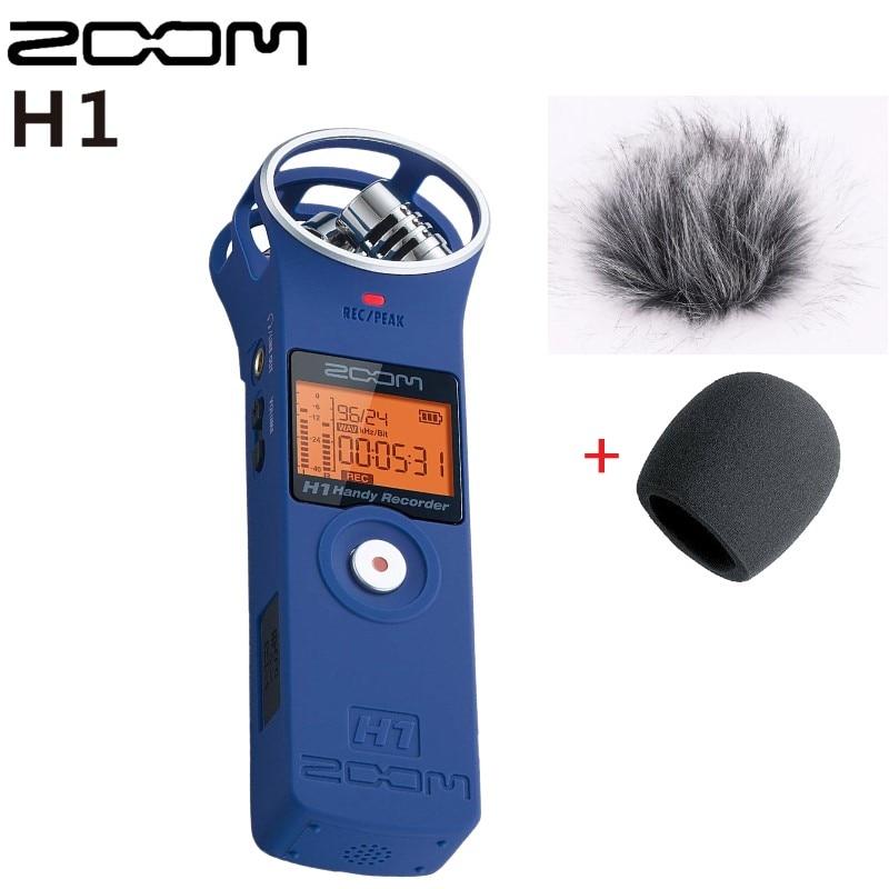 Portable Zoom H1 Blue Color Handy Recorder Digital Camera Audio