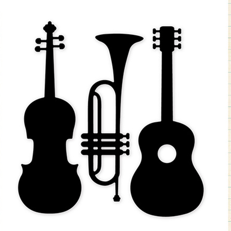 3D Classic Musical Instruments Metal Cutting Dies Stencil For DIY Scrapbooking Album Paper Card Decor Craft Embossing Die Cuts