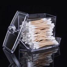 Feiqiong carré q conseils boîte coton écouvillons titulaire coton rangement Transparent organisateur boîte trousse de maquillage 2019