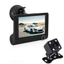 Car DVR Three Triple Lens Car DVR font b Camera b font Dashcam Video Recorder Digital