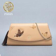 Pmsix 2017 Brand lady fashion handbag designer clutch Khaki long wallet female  P520018