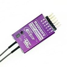 Feiying cooltec novo mini r6008hv fasst 2.4g 6ch receptor futaba compatível com concha de metal