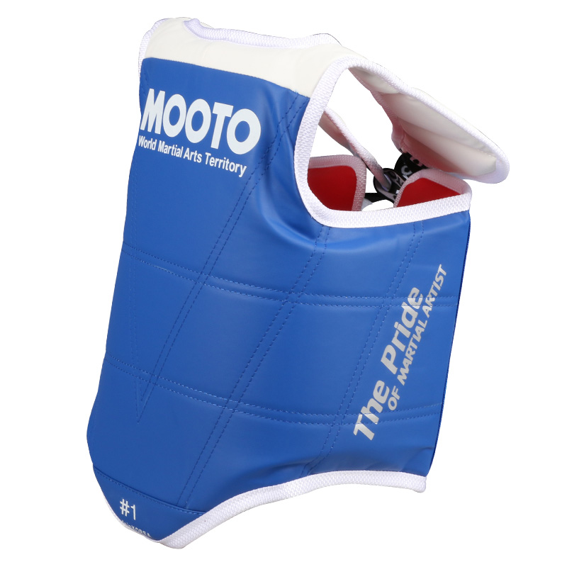 Mooto TaeKwonDo Red Blue Chest Guard Vest Protector Gear WTF KTA Approved Chest Protector Adult Kids TKD Protector Guards high quality mooto taekwondo foot protector kta for offical competition fighting feet guard kicking box spats guard