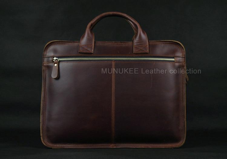Luksuzna torba za laptop od prave kože za muškarce Laptop torba od - Aktovke - Foto 3