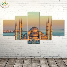 BEAUTIFUL SULTAN AHMET MOSQUE Wall Art Canvas Framed Print Painting Vintage Posters and Prints Picture 5 Piece