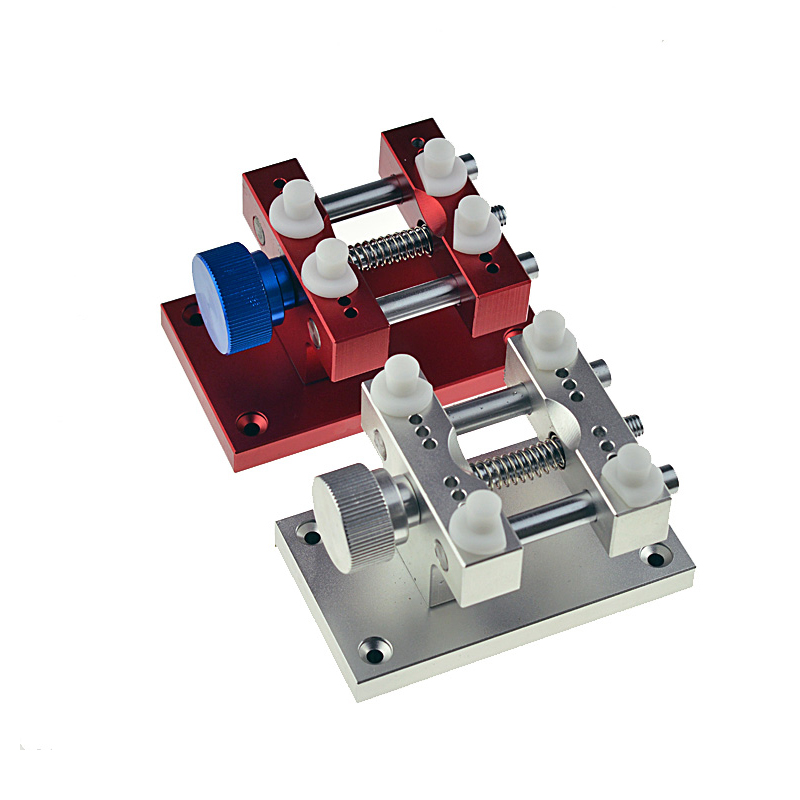 2017 Latest Red/Silver Quality Metal Watch Holder Tools Big Size Fixed tool For watchmaker repair watch