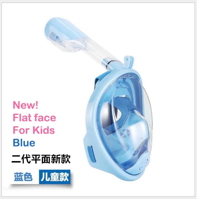 Livraison gratuite! Enfants snorkeling masque plongée masque nez respiration plongée miroir ensemble anti-brouillard snorkeling masque XS enfant 2 modèles - 5